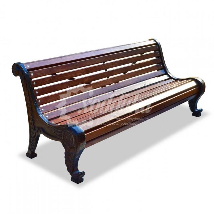 Скамейка чугунная «Родник» - купить недорого, цены от производителя Хоббика